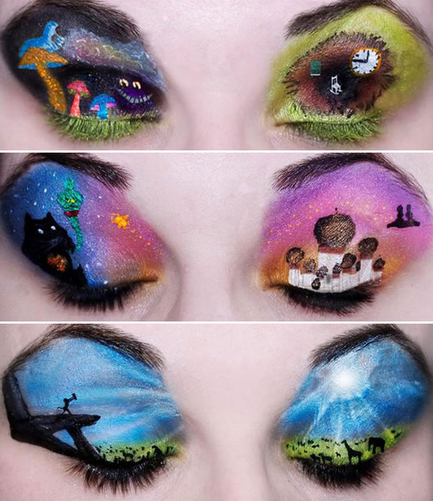 movies makeup artist katie alves has transformed scenes from theseEye Makeup Art