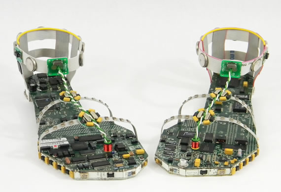 Strut around in Data Sandals fashioned from actual motherboards