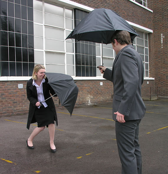 Alex Woolley's Water Pistol Umbrella is the coolest