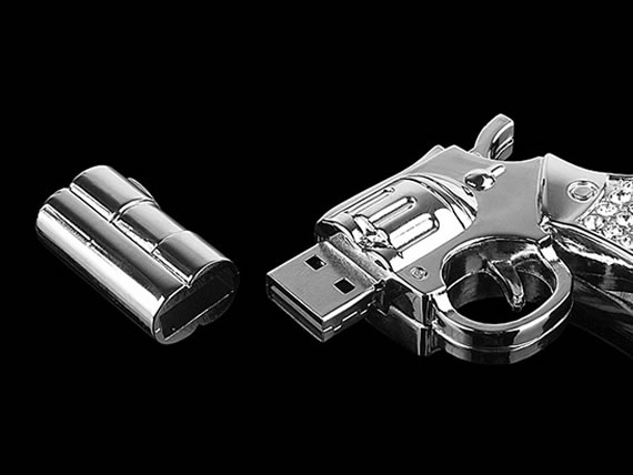 Get dazzled with the Jewel Gun USB Flash Drive