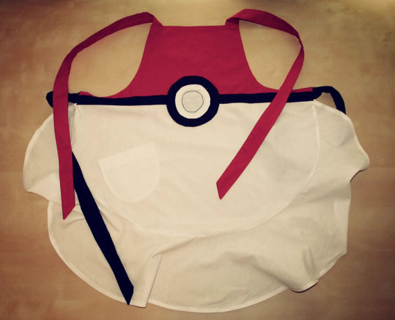 Pokéball apron adds a geeky zing to your kitchen garb