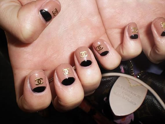 Chanel Half Moon Nails spells Classiness