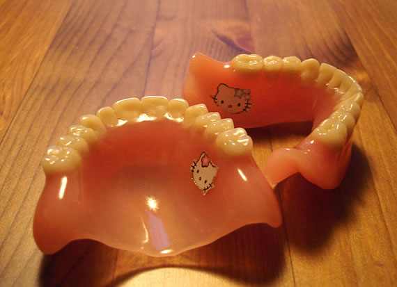 Hello Kitty Dentures are bizarre