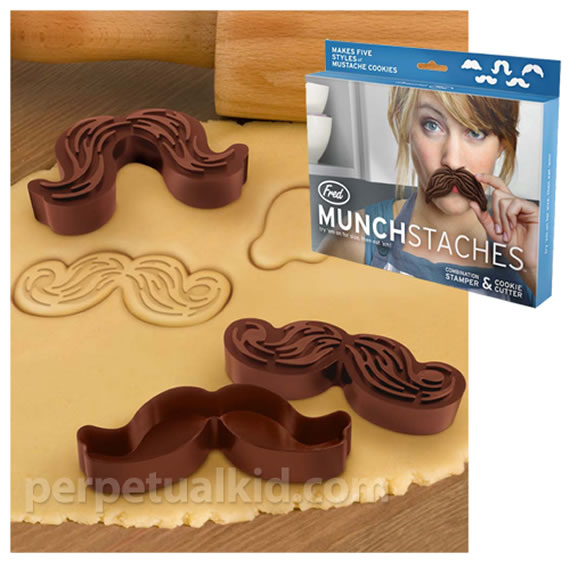 MunchStache Cookie Cutters make fun cookies