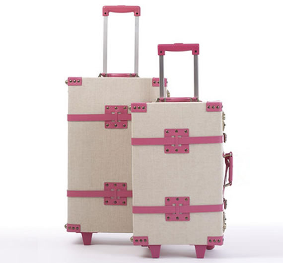 """Editor"" Pink Luggage from Neiman Marcus is trendy"