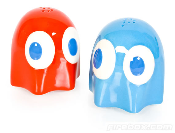 Pac-Man Ghost Salt and Pepper Pots spice up dinner time