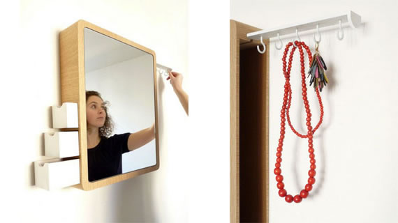 Precious Mirror holds jewellery and accessories