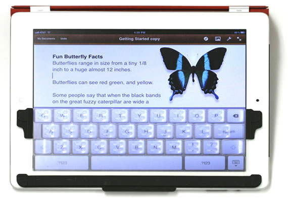 TouchFire turns your iPad into a laptop keyboard