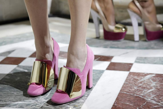 Yves Saint Laurent gold-plated shoes are refreshingly unique