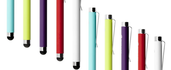 Keep your fingers active and colorful with the bright stylus range from Griffin