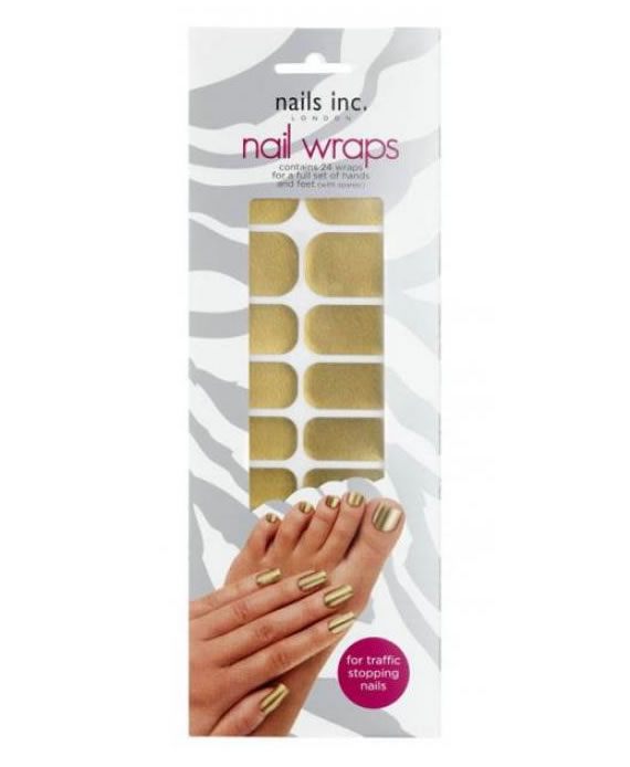 Solid Gold Nail Wraps are easier than polish