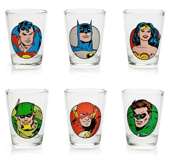 Feel power-puffed by drinking from the DC Comics Shot Glass