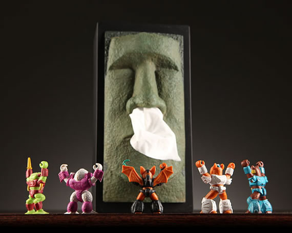 The awesome Tiki Tissue Box holder with ancient Moai will help you get well soon