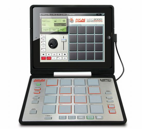 Akai MPC Fly Pad functions as an iPad2 Music Case