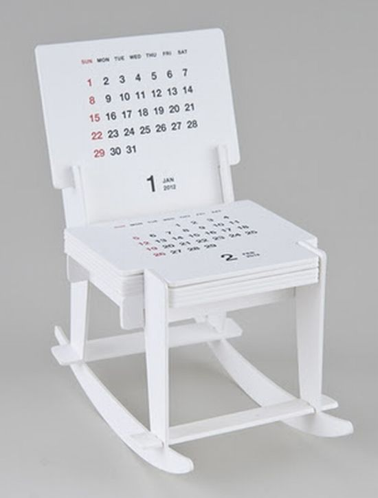 2012 Rocking Chair Sculpture Calendar by Katsumi Tamura
