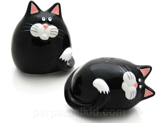 Fat Cat Salt & Pepper Shakers add spice to your kitchen