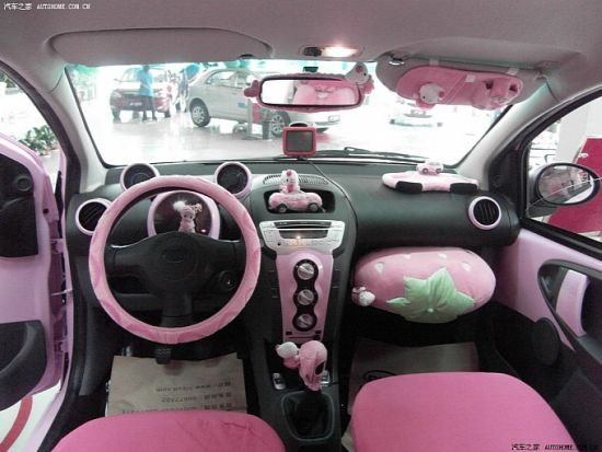 BYD F0 Car: Hello Kitty sits on the wheels in China