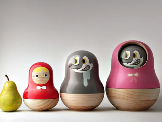 Little Red Riding Hood Matryoshka Dolls by designer Mike He