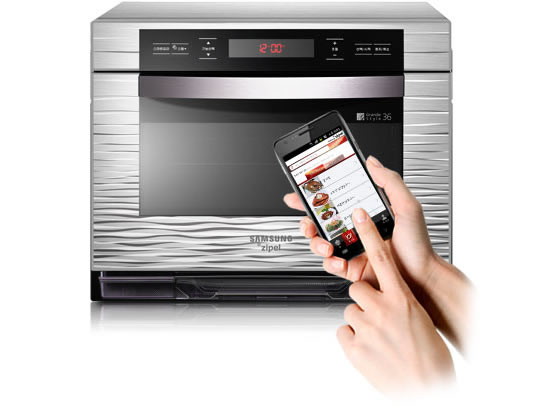 Samsung Zipel oven can be controlled by an Android phone
