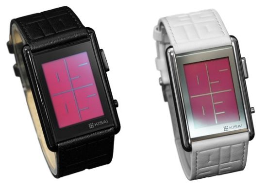 TokyoFlash Kisai Stencil LCD watch keeps it stylish with vague display