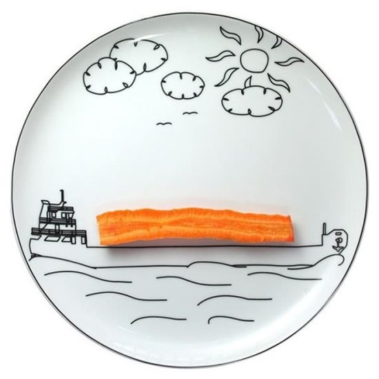 Playful plates by Boguslaw Sliwinski encourage veggie eating