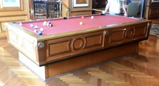 A pool table that actually steadies itself in choppy waters