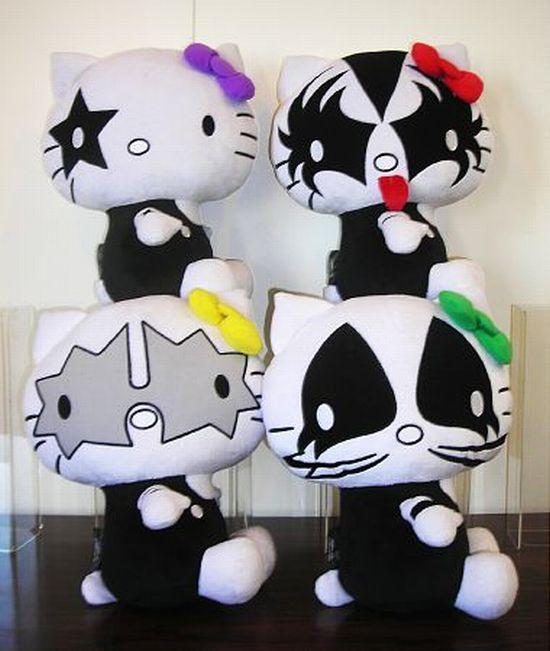 Hello Kitty Kisses Rock Band Kiss And Hello Kitty