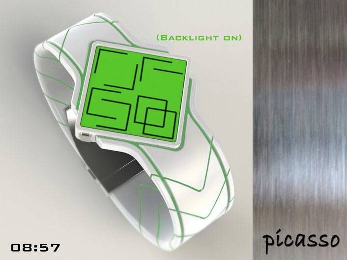 Tokyoflash Picasso Cubism Watch Concept: Can you figure it out?