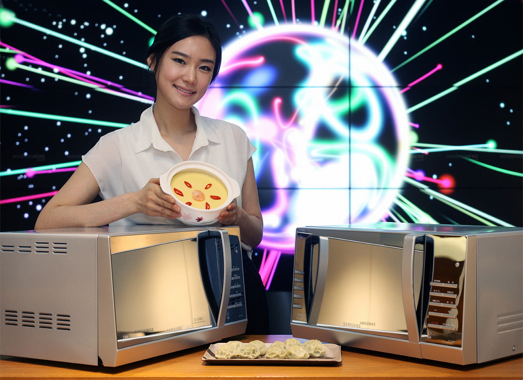 Samsung unveils the Mirror Microwave Oven