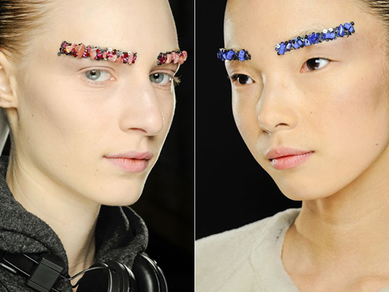 Chanel's Bejeweled Eyebrows: A new fashion statement
