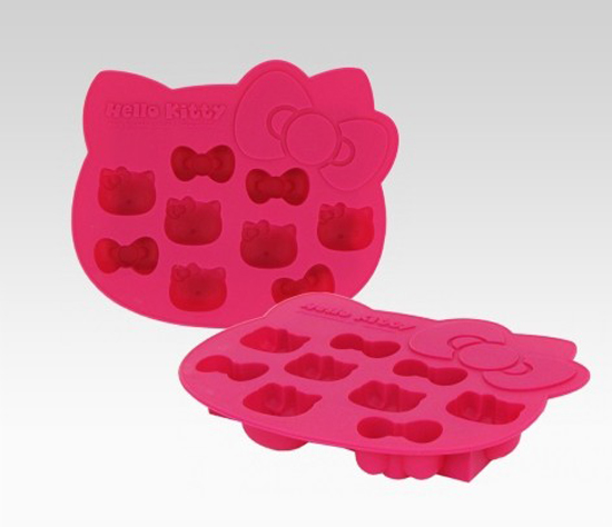 Hello Kitty Die-Cut Ice Cube Tray is luscious in pink