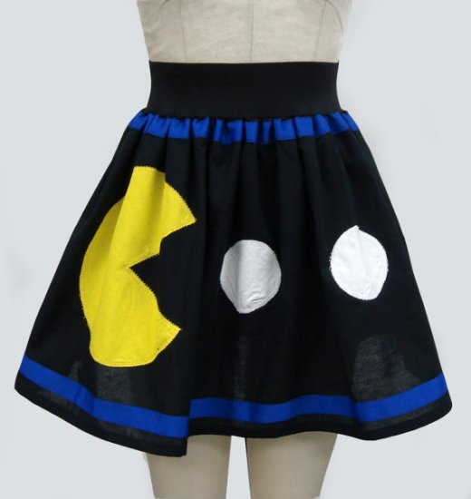 Trendy Pac Man and Ghost Skirt is made to order