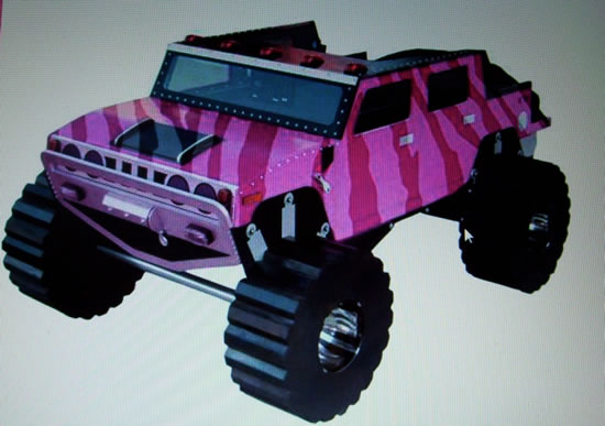 The Pink Zebra Hummer H2 Bed: Just for your little girl