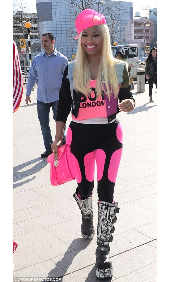 Nicki Minaj shows off her penchant for space boots while in London