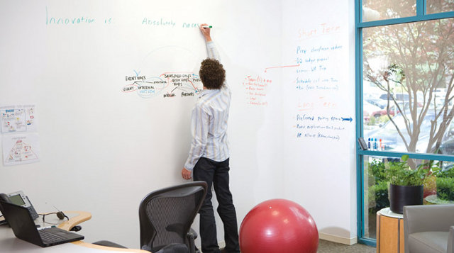CLEAR from IdeaPaint turns your colored walls into instant dry erase boards