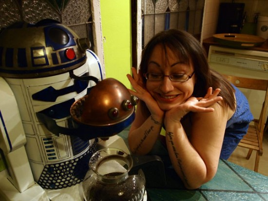 R2-D2 Dark Roast Edition becomes your astromech coffee-maker