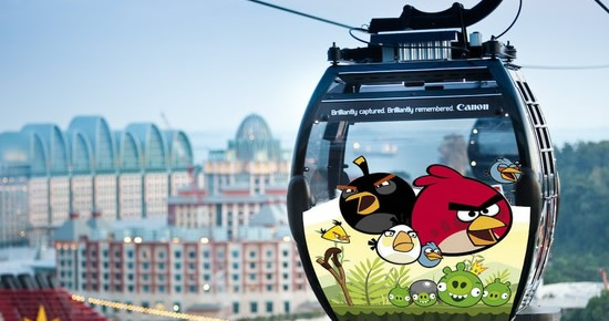 Singapore's Cable Car Ride Launches the Angry Birds Adventure