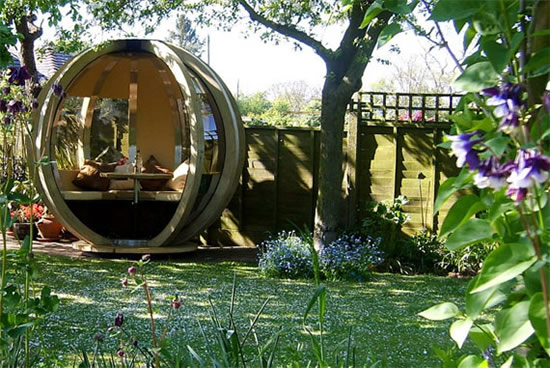 G-Pod is a cool summerhouse that perches in your backyard
