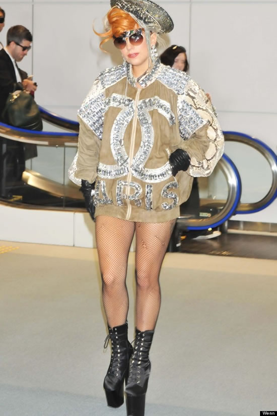 Lady Gaga parades in Chanel's Bejeweled Bomber Jacket