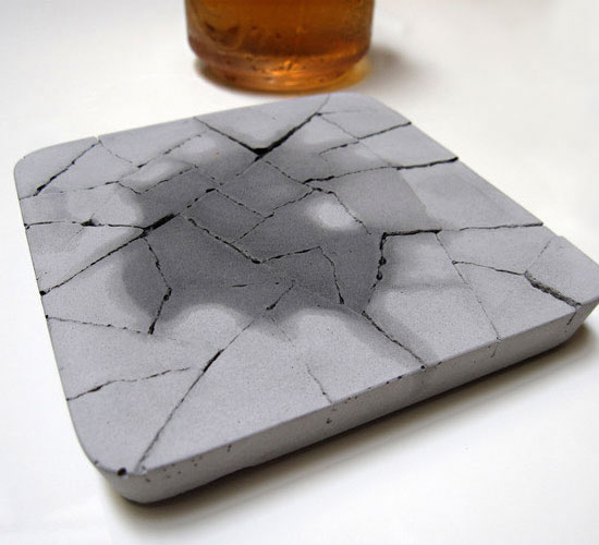 Water Absorbent Concrete Coaster is rugged beauty on your table