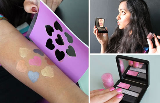 Go creative by turning your eye shadow into Lip Gloss, Nail Polish and Temporary Tatoos