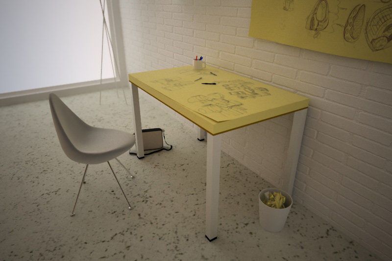 The Post-ITable by Soup Studio: A table made out of giant post-its