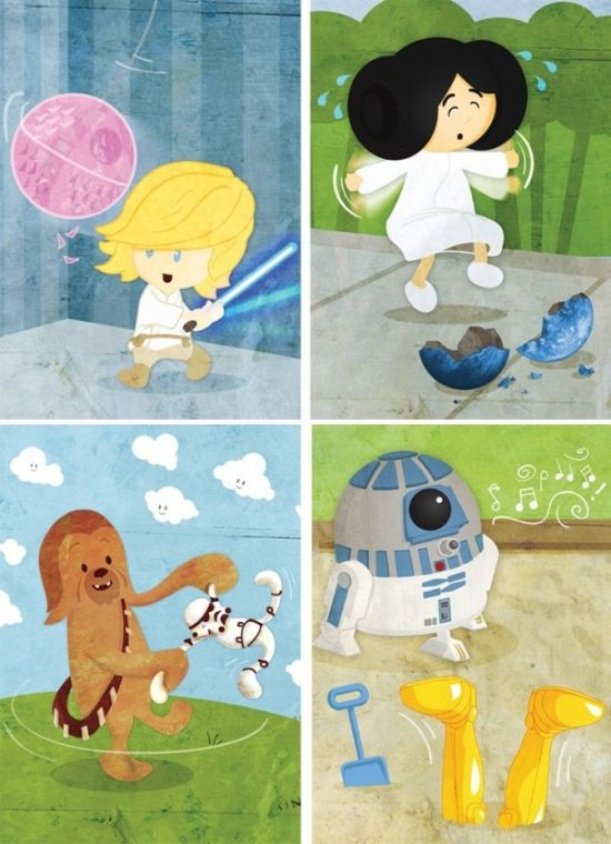 Baby Star Wars Character Prints are simply adorable