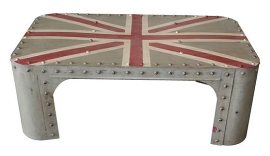 Urban Vintage Union Flag Table for coffee, conversations and more