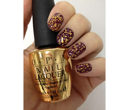 "OPI announces James Bond inspired 18 karat gold leaf top coat called ""The Man with the Golden Gun"""