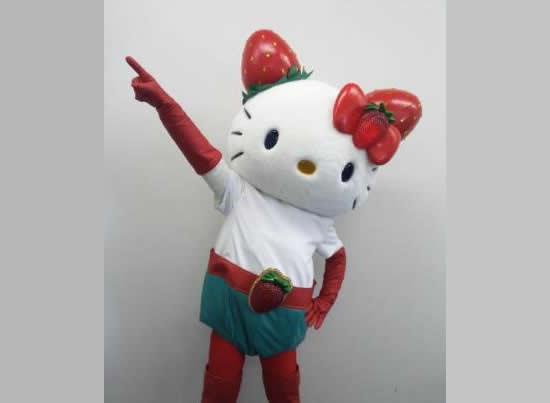 Hello Kitty's Superhero avatar Ichigoman makes a Tokyo debut