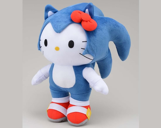 Sega reveals Hello Kitty Sonic the Hedgehog jumbo plushie