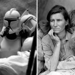 star wars 6 150x150 Artist creates Star Wars recreations of famous photographs with figurines
