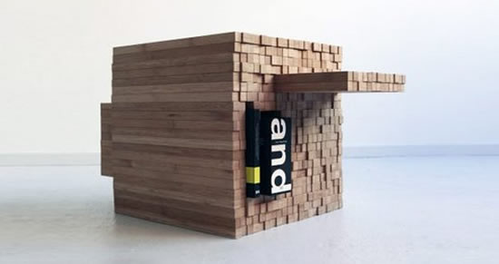 The PixelTable from Studio Intussen: The Jenga table that solves all your storage problems