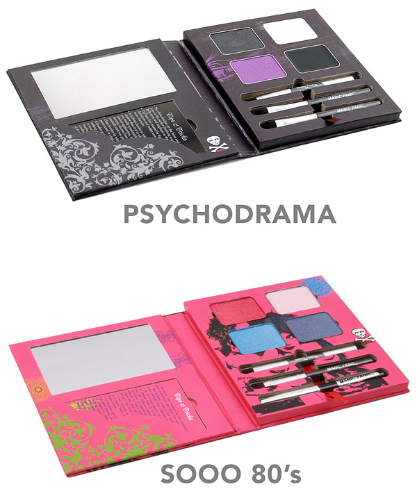 Two new uber-glam eye pallets from Manic Panic: Psychodrama and Sooo 80's